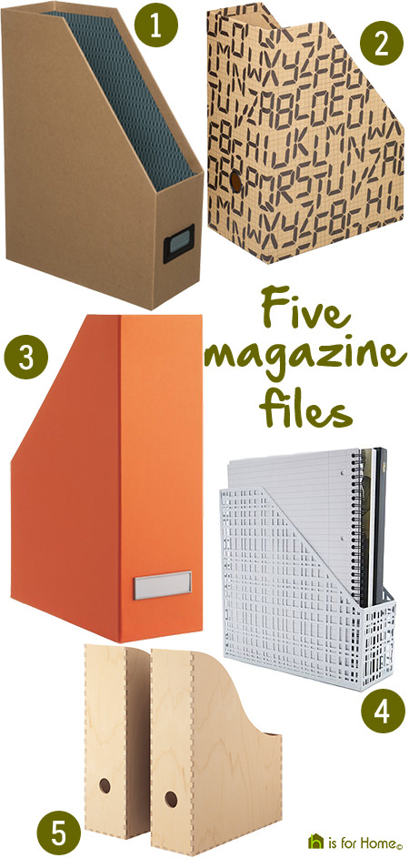 selection of magazine files