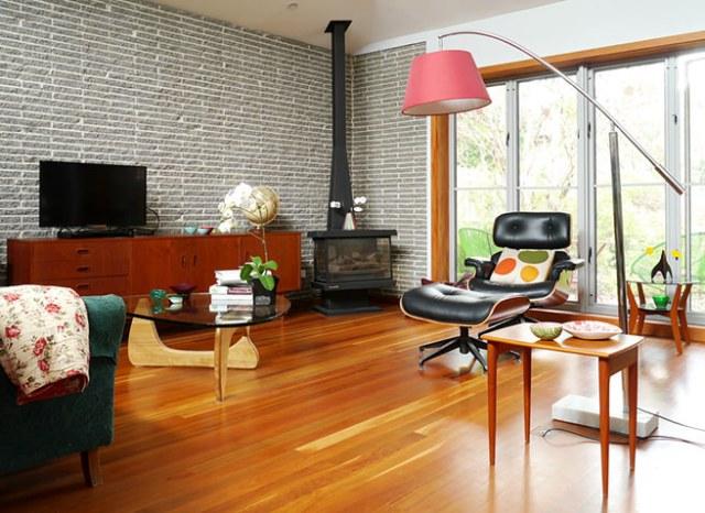 Melbourne mid century modern sitting room