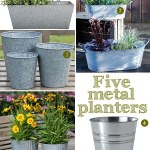 Gimme Five! Metal planters