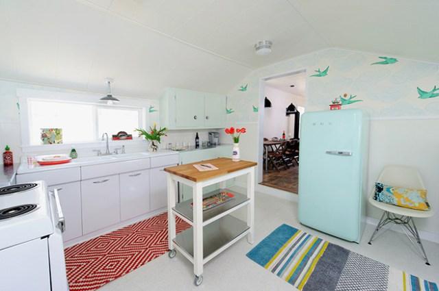Mid-century-modern-inspired kitchen