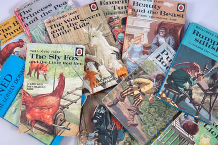 Collection of vintage Ladybird fairy tale books | H is for Home