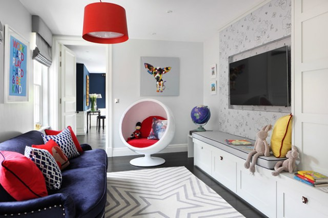 Pop-inspired family room
