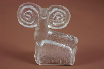 Vintage Scandinavian glass ram