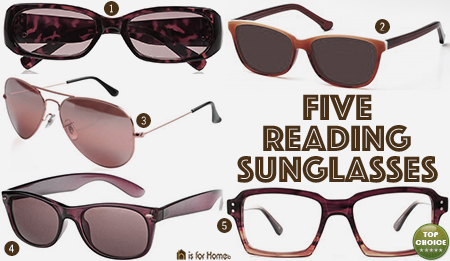 Selection of five reading sunglasses