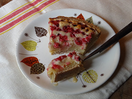 Half-eaten slice of redcurrant mazarin tart | H is for Home