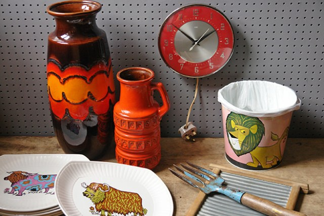 Collection of vintage collectables | H is for Home