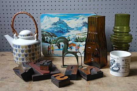 collection of vintage homewares
