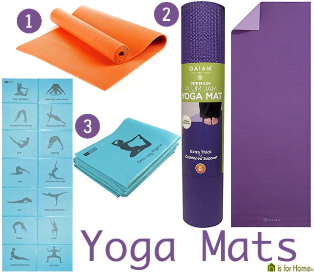 Selection of yoga mats | H is for Home