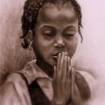 Haitian Girl Praying