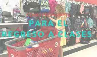 Cómo organizarte para las compras del regreso a clases