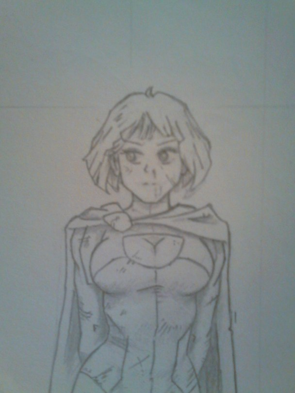 croquis Power girl young