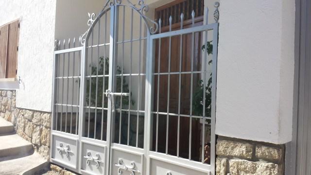 Verja y puerta de hierro