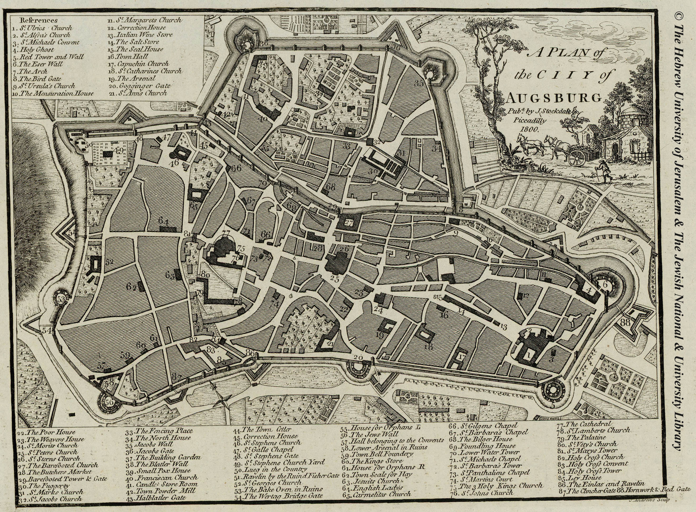 Map of Augsburg  1800  J  Stockdale Low Resolution   High Resolution