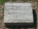 Alief Cemetery, hand made marker