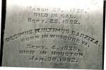 Glenwood Cemetery, D. U. Barziza