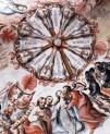 Judas betraying Jesus - note the demon