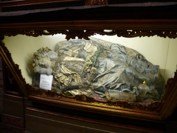 Mummified St. Justina in St Anthony Church,  Lisbon Portugal. Photo: Marks Hinton