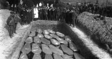 Coffins in Mass Grave