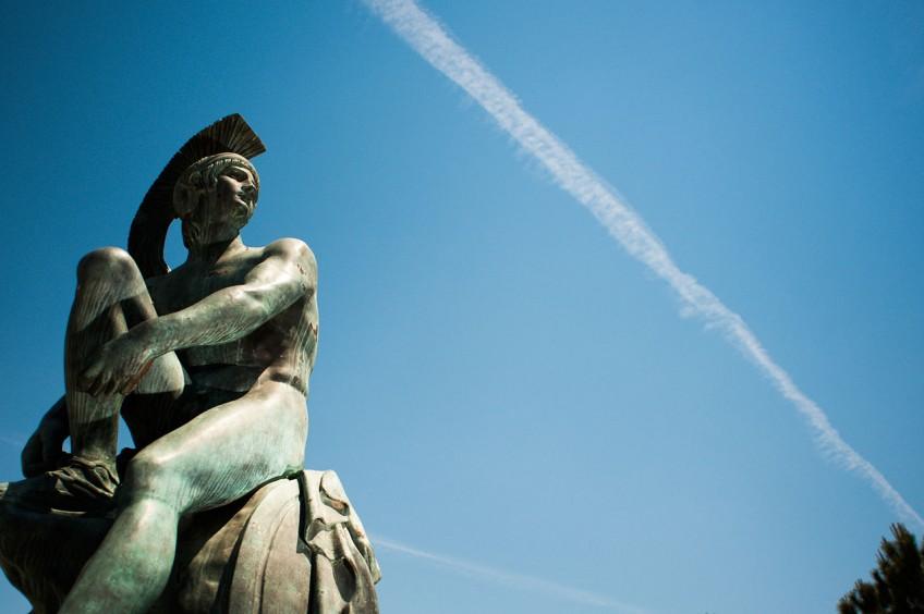 Beeld van Theseus in Athene - cc