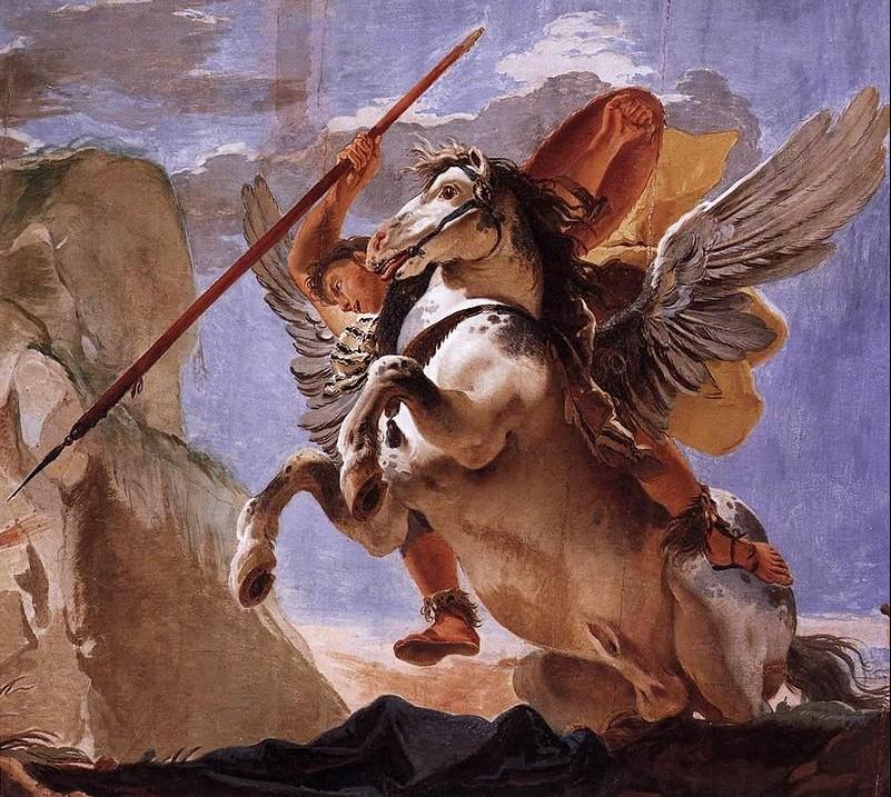Bellerophon en Pegasus - Giovanni Battista Tiepolo