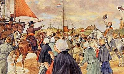 Aankomst Willem I in Scheveningen (1813)