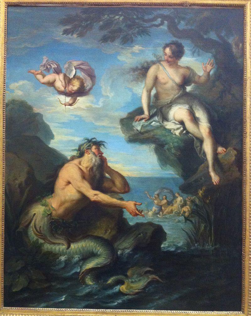 De zeegod Glaucus en Scylla - Jacques Dumont dit le Romain, 18e eeuw
