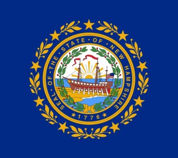 Vlag van New Hamsphire - Staat van Amerika