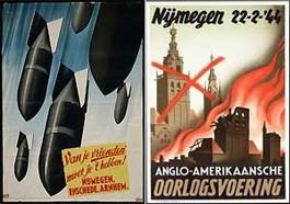 Propagandaposter die de Duitsers verspreidden om Nijmegenaren op te zetten tegen de Amerikanen
