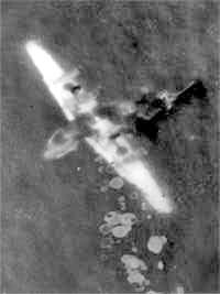 Neergestorte vliegtuig waarin Wladyslaw Sikorski zich bevond