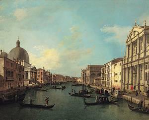 Canal Grande, geschilderd door Antonio Canal rond 1730