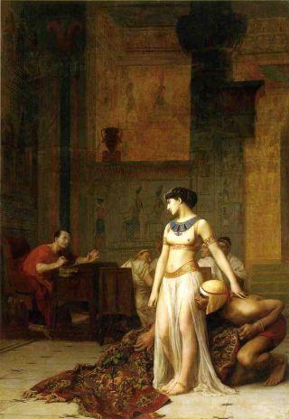 Cleopatra en Caesar