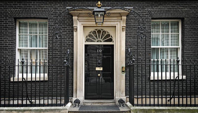 Voordeur van Downing Street 10