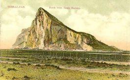 Gibraltar op een Britse ansichtkaart, circa 1909