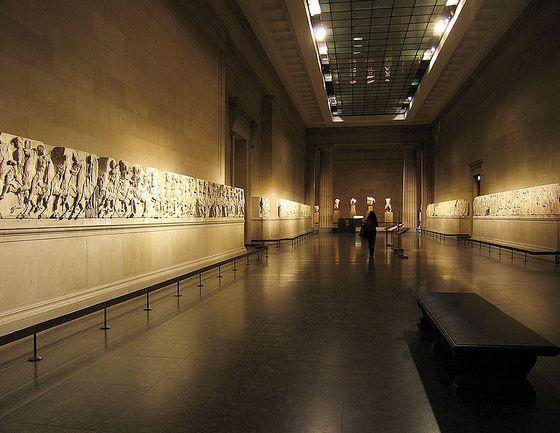 Elgin Marbles in het British Museum