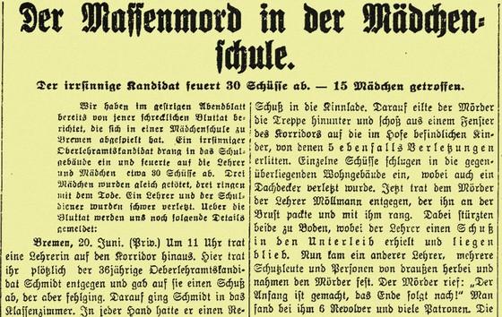 Prager Tagblatt, 22 juni 1913 - Bron: Österrichische Nationalbibliothek