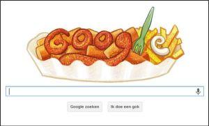 Doodle ter ere van Herta Heuwer en haar curryworst