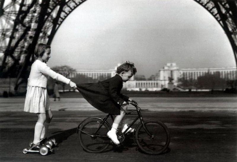 Beroemde foto van Robert Doisneau