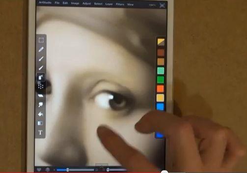 'Meisje met de Parel' op een iPad Mini