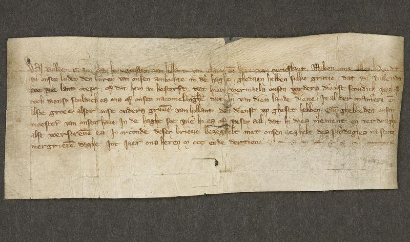 Charter van 14 juli 1313. Het oudste stuk uit de collectie van het Haags Gemeentearchief