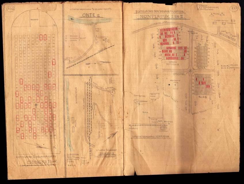 Document over de totstandkoming van de meer dan 400 kilometer lange Birma-Siam spoorlijn in 1942-1943 - Afb: NIOD