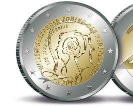 De nieuwe munt met daarop de portretten van zeven Nederlandse vorsten
