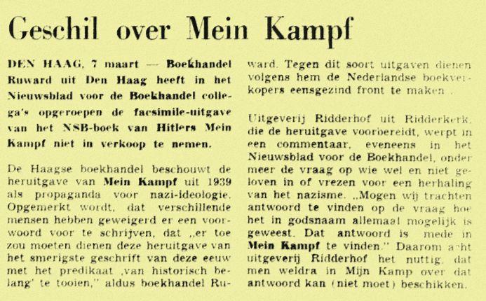 De Tijd, 7 maart 1974