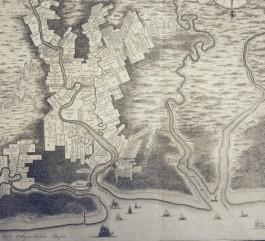 Kaart van de kolonie Suriname met plantages langs de Surinamerivier en de namen van de plantagehouders, 18e eeuw (Zeeuws Archief, KZGW Zelandia Illustrata I-827)