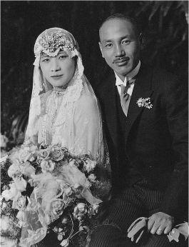 Trouwfoto van Soong Mayling en Chiang Kai-Shek