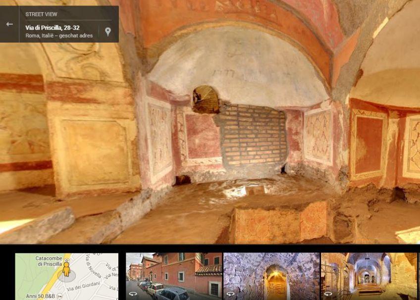 Catacomben van Priscilla - Google Street View