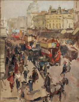 Isaac Israels (1856-1934) Regent Street, London - Afb: Christie's