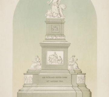 Het winnende ontwerp van J.Ph. Koelman en W.C. van der Waeyen Pieterszen dat echter slechts ten dele zou worden uitgevoerd. Collectie Haags Gemeentearchief