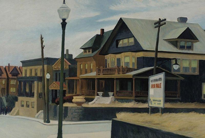 East wind over Weehawken - Edward Hopper, 1934