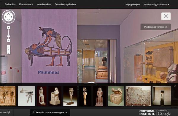 Het Rijksmuseum van Oudheden bekijken via het Google Cultural Institute