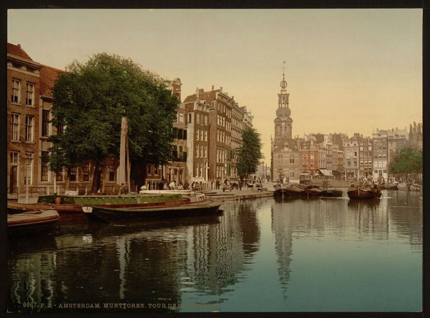 Munttoren rond 1890 (Library of Congress)